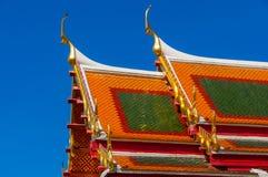 Wat Benchamabophit eller marmortempel Arkivfoton