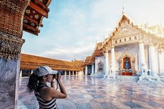 Wat Benchamabophit en Bangkok imagen de archivo libre de regalías