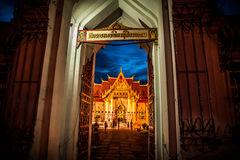 Wat Benchamabophit(Marble Temple), Bangkok Royalty Free Stock Photo
