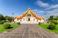 Wat Benchamabophit or Marble temple in Bangkok, Thailand Stock Images