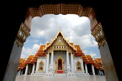 Wat Benchamabophit, The marble temple of Buddhism in Bangkok Stock Photos