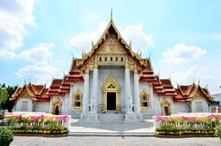 Wat Benchamabophit, The marble temple of Buddhism in Bangkok Stock Photography