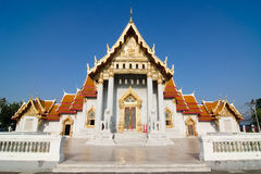 Wat Benchamabophit (Marble temple) Royalty Free Stock Image