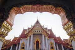 Wat Benchamabophit (Marble temple). Wat Benchamabophit Dusit Wanaram,วัดเบญจมบพิตรดุสิตวนาราม, is a Buddhist Stock Image