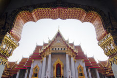 Wat Benchamabophit (Marble temple) Stock Image