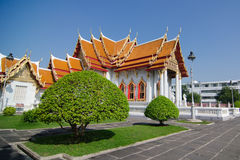 Wat Benchamabophit (Marble temple) Royalty Free Stock Photography