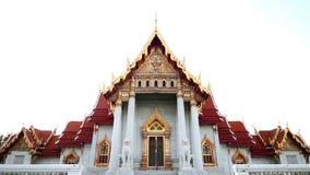 Wat Benchamabophit The Marble Temple gr?nsm?rke av Bangkok, Thailand stock video