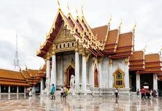 Wat Benchamabophit marmortemplet Bangkok royaltyfri fotografi