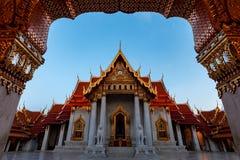 Wat Benchamabophit, o templo de mármore Banguecoque é marco famoso do curso fotografia de stock royalty free