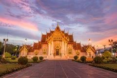 Wat Benchamabophit, o templo de mármore, Banguecoque Imagens de Stock