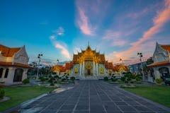 Wat Benchamabophit oder der Marmortempel ist einer von Bangkok ist bedeutend lizenzfreie stockfotos