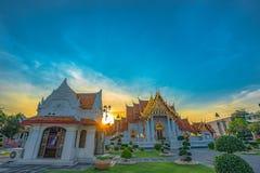 Wat Benchamabophit oder der Marmortempel ist einer von Bangkok ist bedeutend stockfotos