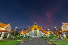 Wat Benchamabophit oder der Marmortempel ist einer von Bangkok ist bedeutend stockfoto