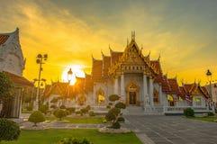 Wat Benchamabophit oder der Marmortempel ist einer von Bangkok ist bedeutend stockbilder