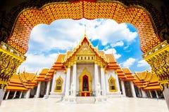 Wat Benchamabophit ou templo de mármore, Banguecoque fotos de stock royalty free