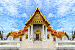 Wat Benchamabophit, public temple in Bangkok Thailand Royalty Free Stock Photography