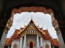 Wat Benchamabophit is a temple in Bangkok. stock images