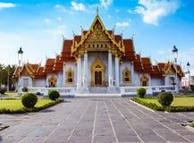 Wat Benchamabophit u. x28; das Marmor-Temple& x29; Lizenzfreie Stockfotografie