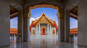 Wat Benchamabophit or Wat Ben in short is a marble temple in Ban Stock Photo