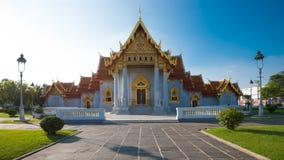 Wat Benchamabopit Dusitwanaram den mest berömda templet av Thaila Arkivbilder