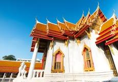 Wat Benchamabopit Dusitwanaram den mest berömda templet av Thaila Royaltyfri Fotografi