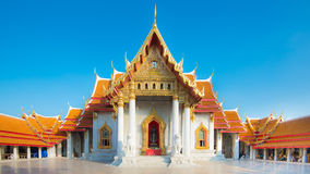 Wat Benchamabopit Dusitwanaram, The most famous temple of Thaila Royalty Free Stock Photography