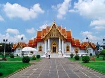 Wat Benchamaborpit in volledige glorie Stock Foto's