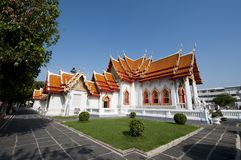 Wat Benjama in Bangkok Thailand Stock Image