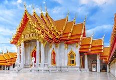 Wat Benjamabophit (Marble Temple) in  Bangkok, Thailand. Royalty Free Stock Images