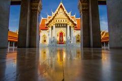 Wat Benjamabopit marmortempel Fotografering för Bildbyråer