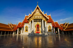 Wat Benjamabopit marmortempel Arkivfoton