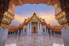 Wat Benjamaborphit или мраморный висок, Бангкок Стоковые Изображения