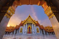 Wat Benjamaborphit или мраморный висок, Бангкок Стоковая Фотография RF