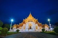 Wat benjamaborphit dusitvanaram or marble temple at twilight Stock Images