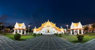 Wat benjamaborphit dusitvanaram or marble temple at twilight stock photos