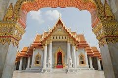 Wat Benjamaborpit Banguecoque Tailândia Fotos de Stock Royalty Free