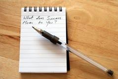 Wat betekent het succes aan u? Stock Foto's