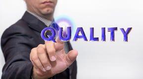 Wat betreft kwaliteitswoord op lucht stock afbeeldingen