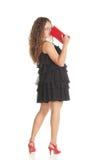 Wat betreft neus met rode handtas Royalty-vrije Stock Foto's