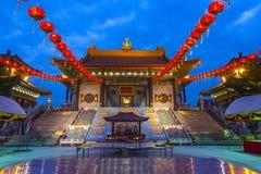 Wat Borom王侯Kanchanapisek Anusorn 库存图片