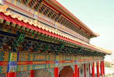 Wat Borom Raja Kanjanapisek Fotografía de archivo libre de regalías