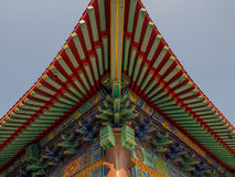 Wat Boromracha Kanchanapisek Anusorn en kinesisk tempel i Nonthaburi, Thailand Royaltyfria Bilder
