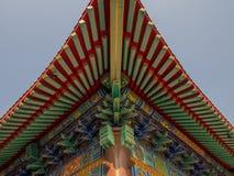 Wat Boromracha Kanchanapisek Anusorn, un temple chinois dans Nonthaburi, Thaïlande images libres de droits
