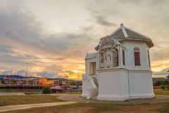 Wat bot temple at twilight time. Uthai thani Thailand Royalty Free Stock Photography