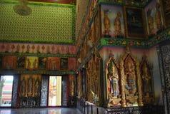 Wat bouddhiste Bangkok buakwan Thaïlande de bâtiment d'analyse d'architecture Image stock
