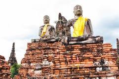 Wat Chai för gammal tempel watthanaram i forntida Ayuttaya Royaltyfria Foton