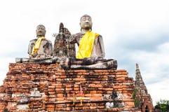 Wat Chai för gammal tempel watthanaram i forntida Ayuttaya Royaltyfria Bilder