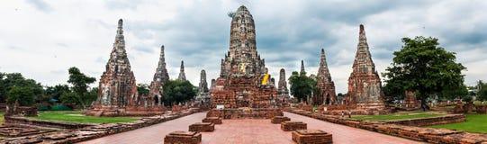 Wat Chai för gammal tempel watthanaram i forntida Ayuttaya Royaltyfri Bild