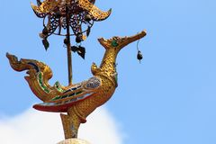 Wat Chai Mongkon - buddhistischer Tempel, Chiang Mai Thailand stockfotos