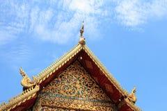 Wat Chai Mongkon - buddistisk tempel, Chiang Mai Thailand arkivfoton